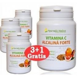 Vitamina C Alcalina Forte - 100 cps - 3+1 GRATUIT